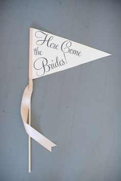 Gay Wedding Sign | Here Come the Brides | Large