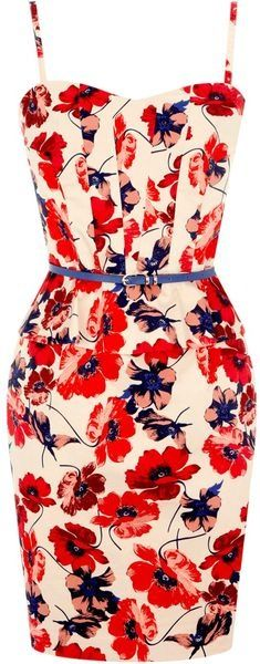 floral summer dress. For summer weddings or special events.