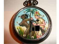 Vintage erotic dial animated pocket watch. The by martonmere