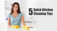5 Quick Kitchen Cleaning Tips