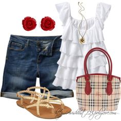 Such a cute outfit for summer. Short Outfits, Cool Outfits, Summer Outfits, Casual Outfits, Fashion Outfits, Womens Fashion, Summer Fashions, Casual Jeans, Summer Clothes
