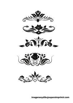 Hojas decoradas en blanco y negro para imprimir bordes for Paginas decoradas