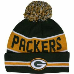 Packers Beanie. Check! New Era Green Bay Packers The Coach Cuffed Knit Beanie with Pom - Green/Gold