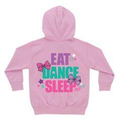 JoJo Siwa 'Eat Dance Sleep' Personalized Zip-Up Hoodie - Toddler Dance Outfits, Girl Outfits, Cute Outfits, Jojo Siwa Shirts, Jojo Siwa Birthday, 10 Birthday, Jojo Siwa Outfits, Mermaid Tails For Kids, Funny Kids Shirts