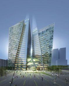 KT Landmark Tower in Seoul, Korea by Studio Daniel Liebeskind + G.Lab* by Gansam Architects & Partners