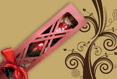 Especial para San Valentín, Paga Bs. 30 en vez de Bs. 60 por una caja con 2 rosas de chocolate artesanal de Chocolatería Dolcetti