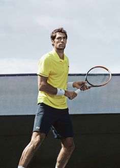 Meet #Lacoste player #JeremyChardy -- #Photography by C. Berlet