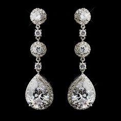 Dangle Stud Poire Cristal Sapphire silver gold filled femmes Lady nuptiale Boucles d'oreilles Bijoux et montres Fantaisie