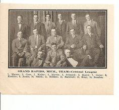 Grand Rapids Furniture Makers Baseball Team   1911 Baseball Team Pictures, Grand  Rapids Michigan,