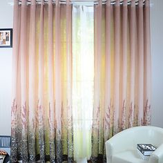 (One Panel) Champagne Flowers Sheer Curtains – EUR € Sheer Curtain Panels, Sheer Curtains, Curtain Fabric, Window Curtains, Window Coverings, Window Treatments, Champagne Flowers, Double Curtains, Living Room Bedroom