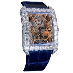 Jacob & Co White Gold Diamond Millionaire Skeleton Manual Winding Wristwatch Diamond Watches For Men, Vintage Watches, Unique Watches, Luxury Watch Brands, 1 Rose, Expensive Watches, Rose Cut Diamond, White Gold Diamonds, Skeleton