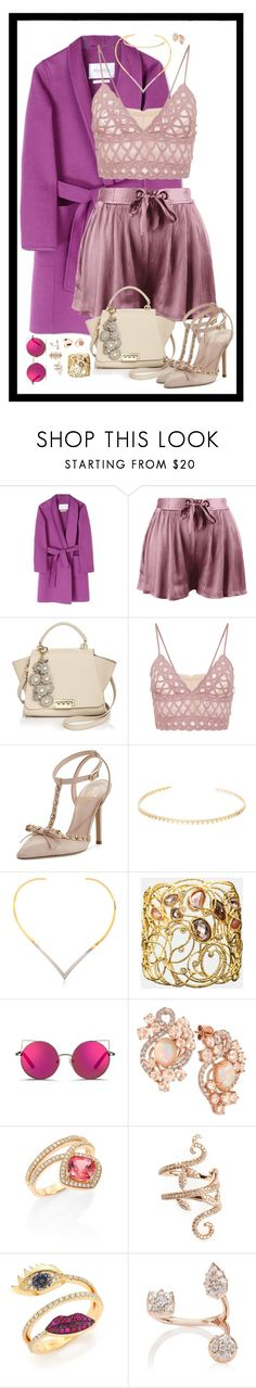"""Sem título #1202"" by patcamppos ❤ liked on Polyvore featuring MaxMara, ZAC Zac Posen, Jonathan Simkhai, Kate Spade, Katie Rowland, Alexis Bittar, Matthew Williamson, LE VIAN, Hueb and Elise Dray"