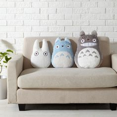 Studio Ghibli My Neighbor Totoro Pillow / Toy / Doll Gray Totoro Toy Rooms Doll Ghibli Gray Neighbor pillow Studio Totoro Toy Studio Ghibli, Softies, Plushies, Totoro Pillow, Plush Pillow, Sewing Projects, Diy Projects, My Neighbor Totoro, Doll Toys