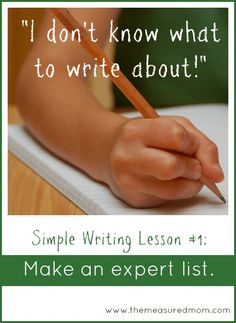 Make an expert list: A prewriting strategy for kids - The Measured Mom