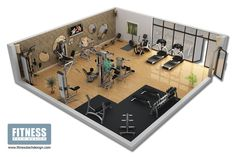 Great 3D gym design from one of the gym designers