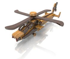 Apache Helicopter by Lloydswoodtoyplans on Etsy