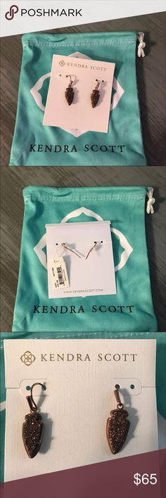 NWT Kendra Scott earrings beautiful, rare, and authentic!!! NWT. gorgeous chocolate color Kendra Scott Jewelry Earrings