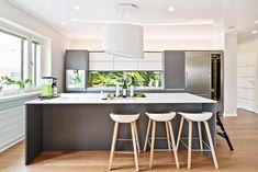 Kuvahaun tulos haulle upotettava liesituuletin Kitchen Dining, Interior, Table, House, Furniture, Home Decor, Mad, Home Interiors, Indoor