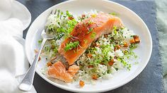 Salmon with sweet potato rice | French recipes | SBS Food