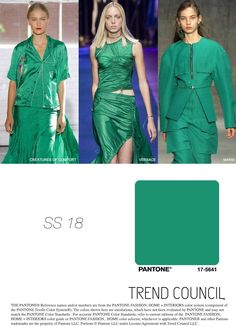 S/S 2018 fashion colors trends