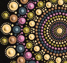 Tapetitos de Mandala original punto pintura en arte tablero de