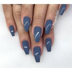 Grey Coffin Nails by MargaritasNailz