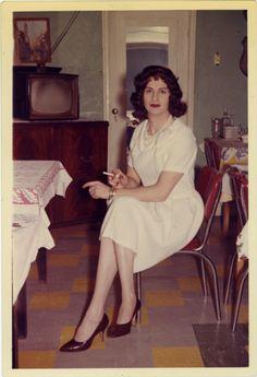 Photograph from Casa Susanna, a 1950s cross-dressing retreat