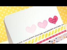 Love You Card @Kristina Kilmer Werner using the Simon Says Stamp Love This stamp with Memento Luxe inks.  Via the Simon Says Stamp blog