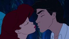 SO DANG CLOSE! This moment tortured me when I was little. Ariel and Eric, The Little Mermaid 1989 screencap