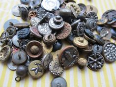 10 Antique Metal Buttons by CaityAshBadashery on Etsy, $9.95