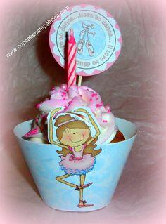 Cupcake para celebrar cumpleaños de una futura ballerina
