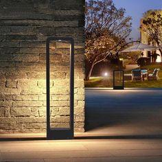 Breckyn - Modern Black Frame Garden Light