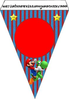 Imprimibles de Super Mario Bros 2. | Ideas y material gratis para fiestas y celebraciones Oh My Fiesta! Super Mario Bros, Super Mario Cake, Super Mario Birthday, Mario Birthday Party, Super Mario Party, Super Mario Brothers, Birthday Party Decorations, Mario Y Luigi, Oh My Fiesta