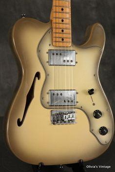 Fender Telecaster Thinline 1979 Antigua | Reverb