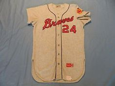 d1397e81c Herb Hippauf 1966 Atlanta Braves game used road jersey flannel First Year !