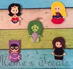 Set of 5 Girl Hero Finger Puppets by MemesTreats on Etsy