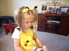 Little Miss Pinny: Pikachu Bandanna Tutorial