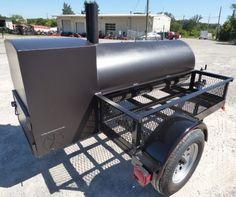 oil tank smoker on wheels Bbq Smoker Trailer, Bbq Pit Smoker, Keep Food Warm, Smokehouse, Cage, Grilling, Charcoal, Cooker, Wood