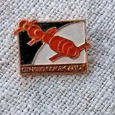 Vintage Kosmos Badge space pins USSR Station Salyut by MyWealth