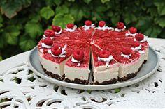 White Chocolate Raspberry Coulis Raw Cheesecake - health Yeah