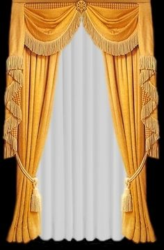 Second Life Marketplace - victorian curtain gold Victorian Curtains, Victorian Windows, Victorian Home Decor, Victorian Interiors, Victorian Homes, Victorian Gold, Curtains And Draperies, Elegant Curtains, Home Curtains