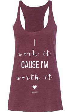Equip yourself for your chosen training and attack personal health club program with the newest types fitness outfit for ladies. Workout Attire, Workout Wear, Workout Style, Nike Workout, Workout Outfits, Im Worth It, T-shirt Logo, Gym Shirts, Fitness Shirts
