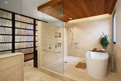 stand alone tub attached to walk in shower