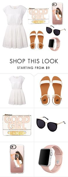 """Sin título #31"" by paualinagaxiolaguardado on Polyvore featuring Band of Outsiders, 2b bebe, Moschino, Casetify y Apple"