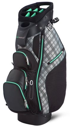 Sun Mountain Ladies Diva Cart Golf Bags - Black Aqua, a riding cart bag with a stylish edge, comes complete with all of the features that make our cart bags so functional. Golf Attire, Golf Outfit, Golf Fashion, Ladies Fashion, Fashion Bags, Wilson Golf, Golf Range Finders, Girls Golf, Women Golf