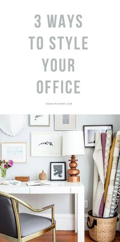 Style your office accordingly-you can work anywhere but, how much lovelier in a space you feel really good in!