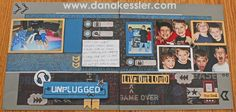 Two Page Scrapbook Layout Boy Teen Video Games ProPlayer Cricut Masculine #ctmh #cricut #scraptabulousdesigns #scrapbooklayouts