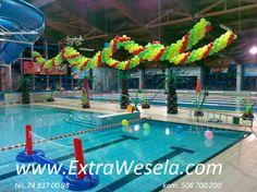 Dekoracja balonowa imprezy na basenie