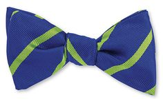 Royal/Apple All Silk Woven in England Hand-made in USA Click for Bow Tie Styles R. Hanauer bow ties are made to order. If you are unsure about a color or desig