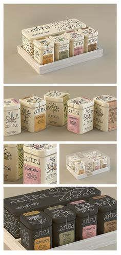 'Artea' - where the consumer can make the tea of their choice depending on their mood/situation. They can experiment, control and change the tea to their taste /  by Masha Ponomareva, via Behance